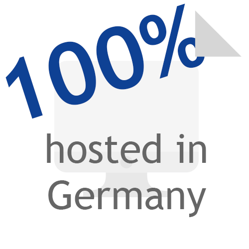 Flat Icon - 100% hosted in Germany